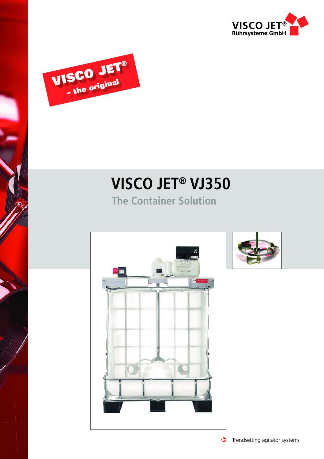 VISCO JET VJ350 Container Mixer PDF